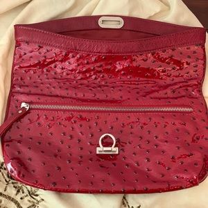 Bags - Red leather clutch